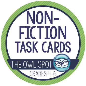 Nonfiction Reading Task Cards - Context Clues, Main Idea, Summarizing Test Prep