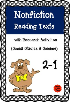 Nonfiction Reading Texts with Research Sheets ( Science & History )