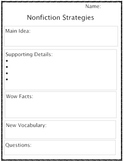 Nonfiction Reading Workshop Sheet