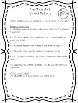 Nonfiction Reading and Writing Grades 1-2 Companion - EARTH SCIENCE Texts
