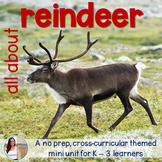 Nonfiction Reindeer Caribou Mini Unit - Integrated No Prep Set