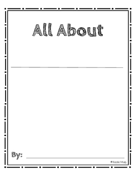 Nonfiction Research - All About - Expert Topic Graphic Organizer