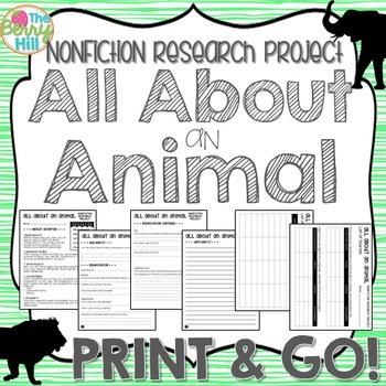 Nonfiction Research Project - All About an Animal - Print