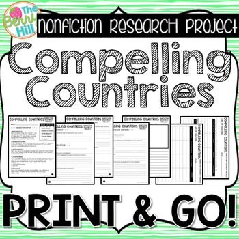 Nonfiction Research Project - Compelling Countries - Print & Go - CC Aligned