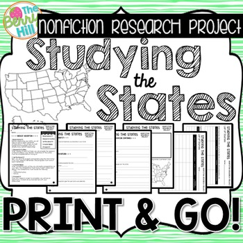 Nonfiction Research Project - Studying the States - Print & Go - CC Aligned