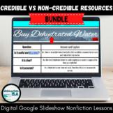 Nonfiction Resource: Credible vs Non-Credible