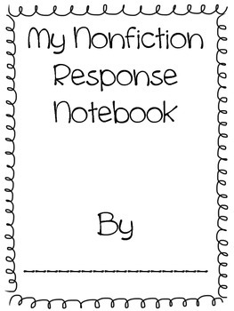 Nonfiction Response Book