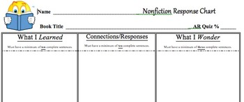 Nonfiction Response Chart - Accelerated Reader
