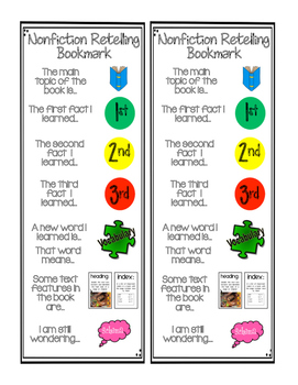 Nonfiction Retelling Bookmark