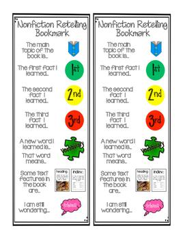 Nonfiction Retelling Bookmark