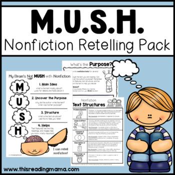 Nonfiction Retell Worksheets Teaching Resources TpT
