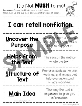 Nonfiction Retelling Pack with MUSH