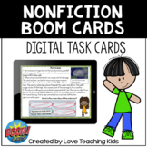 Nonfiction Review Boom Cards Digital Task Cards for Distan