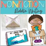 Nonfiction Riddles  Writer's Workshop Unit  K-2