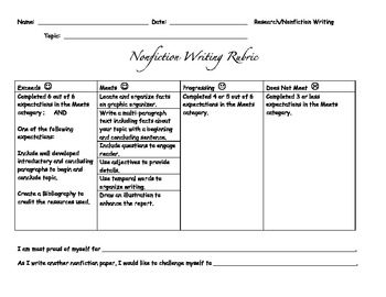 Nonfiction Rubric
