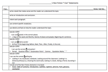 Nonfiction Rubrics