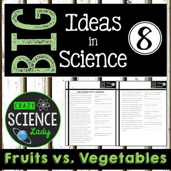 Nonfiction Science Close Reading 8: Fruits vs. Vegetables