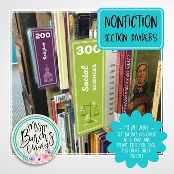 Nonfiction Section Dividers