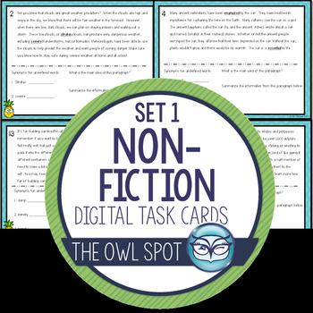 Nonfiction Set 1 Digital Task Cards