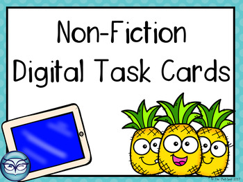 Nonfiction Set 1 Digital Task Cards Test Prep