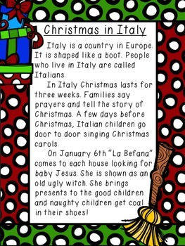 Shared Reading: Nonfiction Shared Reading Plans- Christmas in Italy- CCSS