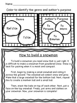 Shared Reading: Nonfiction Shared Reading Plans- How to Build a Snowman- CCSS