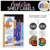 Nonfiction Shelf Labels