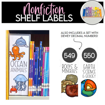 graphic regarding Library Shelf Labels Printable identified as Nonfiction Library Shelf Labels