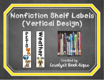 Nonfiction Shelf Labels (Vertical)