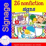 Nonfiction Signage