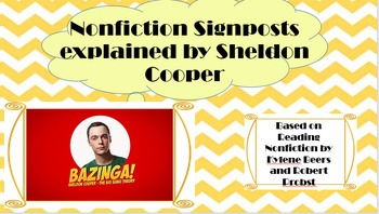 Nonfiction Signposts Explained by Dr. Sheldon Cooper