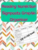 Nonfiction Signposts Organizer chart