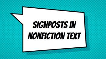 Nonfiction Signposts in Google Slides