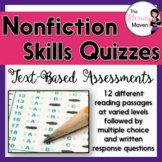 Nonfiction Skills Quizzes: Text-Based Assessments with Mul
