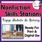 Nonfiction Skills Stations - Print & Digital