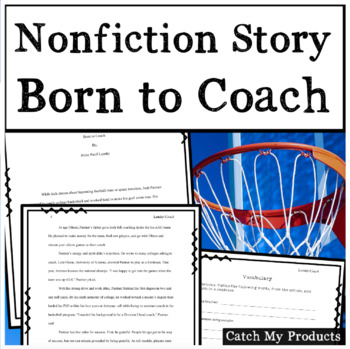 Writing Process : Nonfiction Sports Story with Expository Writing Activity