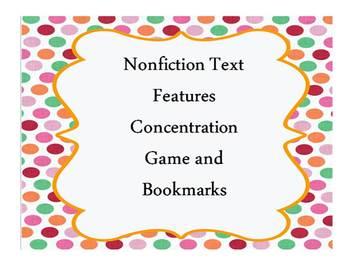 Nonfiction Story Element Concentration Review Game- CCS Aligned
