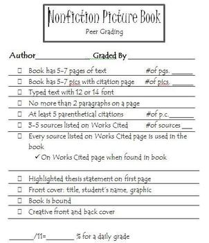 Nonfiction Storybook Research Project