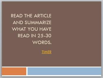 Nonfiction: Summarizing, Paraphrasing, and Plagiarizing PowerPoint Lesson