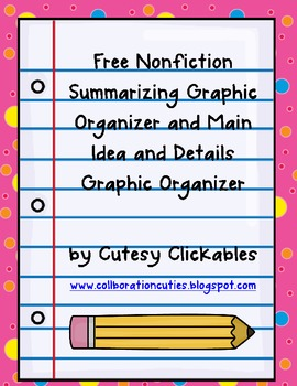 Nonfiction Summarizing and ... by Cutesy Clickables by ...