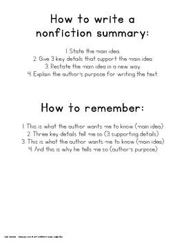 Nonfiction Summary