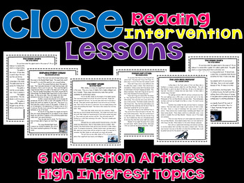 Nonfiction Summary Reading Intervention Unit
