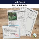 Task Cards: Farm Animals | Informational Nonfiction Litera