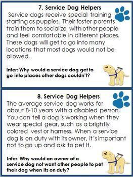Nonfiction Task Cards: Search and Rescue Dogs