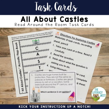 Nonfiction Task Cards-Castles