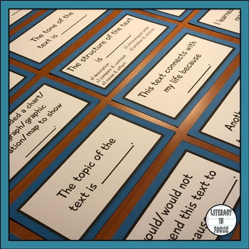 Nonfiction Task Cards For Reading Informational Text