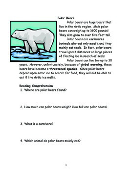 Nonfiction: Ten Fascinating Mammals with Questions