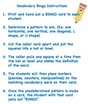Nonfiction Terms Bingo