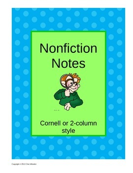 Nonfiction Terms Cornell Notes