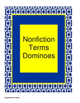 Nonfiction Terms Dominoes
